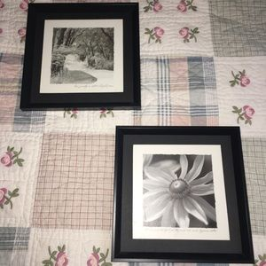 Black framed decor 10 3/4 Inches by 10 3/4